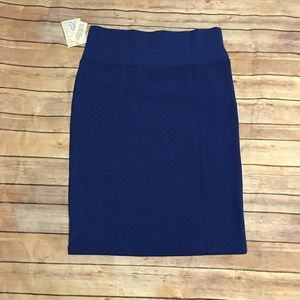 LuLaRoe Cassie Dark Blue Skirt